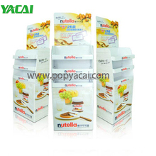 Free standing display unit cardboard point of sale shelf display for chocolate cream