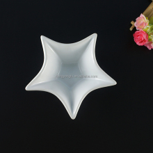 Porcelain dishes for restaurant star shaped custom design porcelain dinner dish
