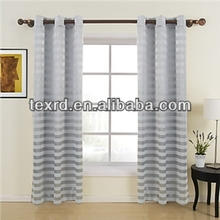 Blackout Eyelet Jacquard Stripe Curtain for Living Room