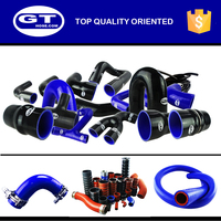 woven polyester silicone hose/volvos turbo hose/high temperature oil resistant silicone radiator hose