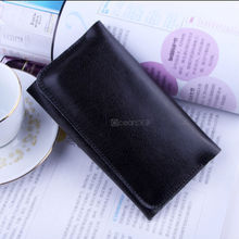Decent business men style genuine Leather wallet Pouch Cover case For Apple Iphone 5c