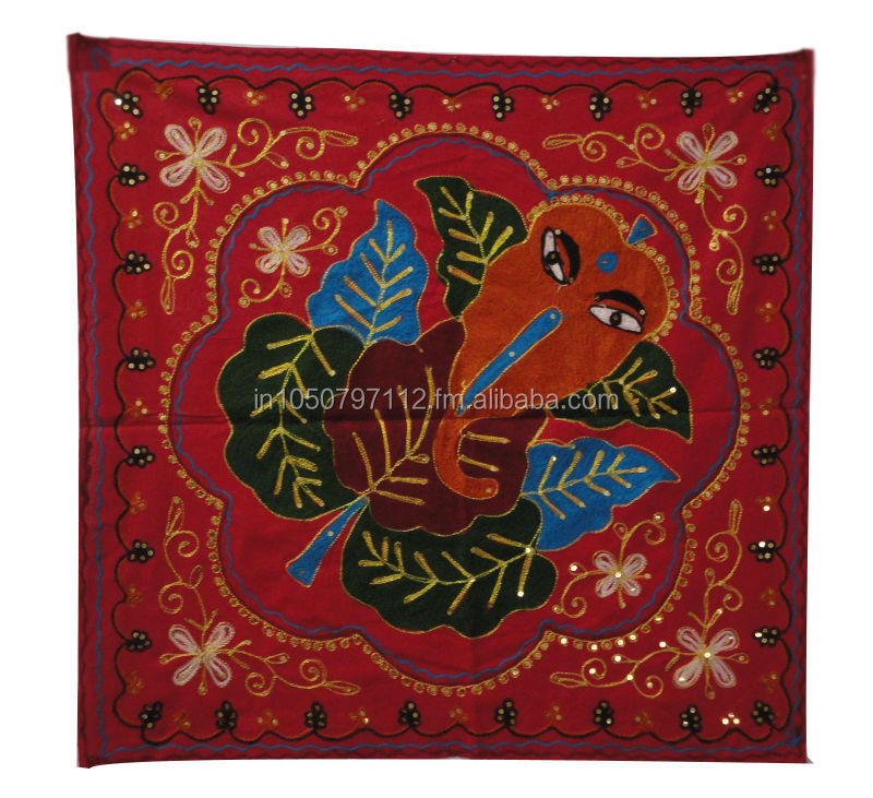 RTWH-1 Vintage look designer lord ganesh wall hanging artistic work and embroidery design home decor wall hangings From Jaipur