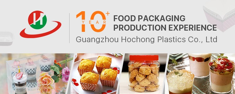 Guangzhou factory supply bake in cake pvc packing box container with paper cake cup