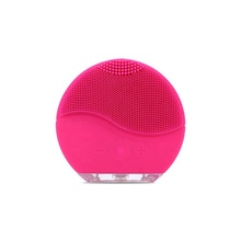 Round Pink Mini Electric Facial Cleansing Rechargeable Facial Massager