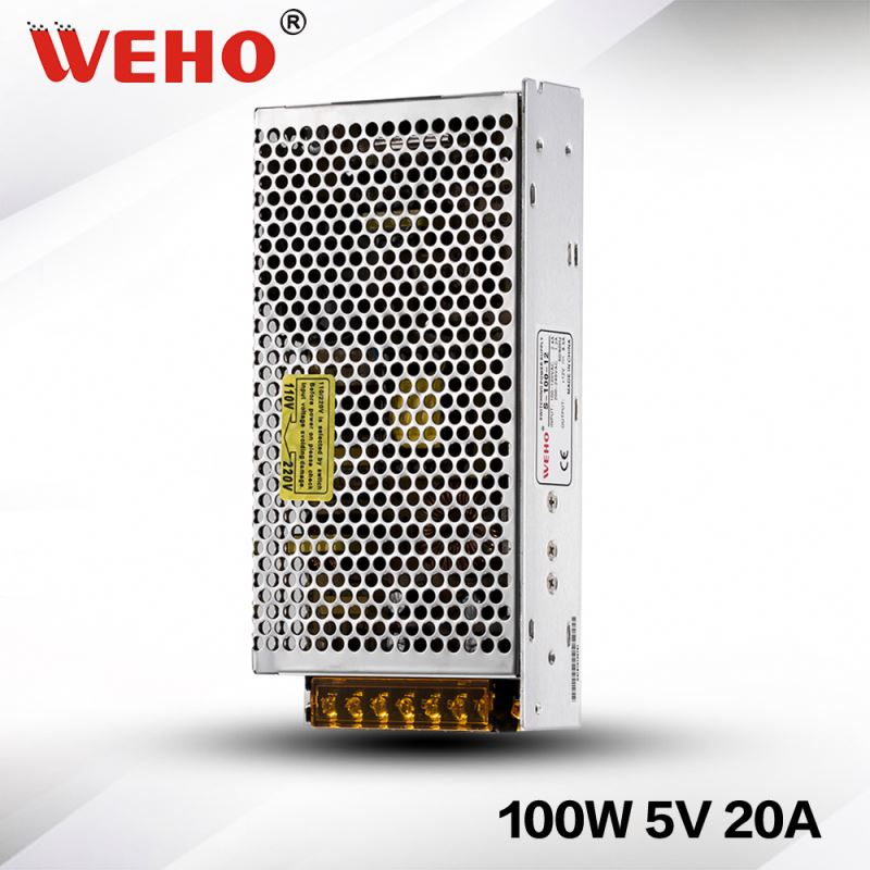 CE RoHS approved 100w 5v 20amp ac dc swith power supply 100w 5v 20a led power