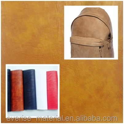 New Arrivals Raw Leather Fabric For Backpack With Gradient Color