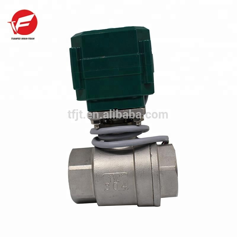 CTF-<strong>001</strong> electric 2-way ball valve 1/2' 1'' brass/Stainless Steel valve with electric actuator CE and ISO approved for water trea