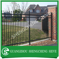 Modern Europe wrought iron fencing garden lawn border fence