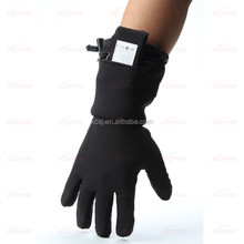 top comfortable thin lycra fabric rechargeable battery heated gloves liner