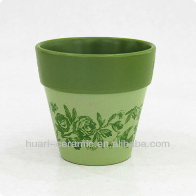 4 inch ceramic herb nursery pot