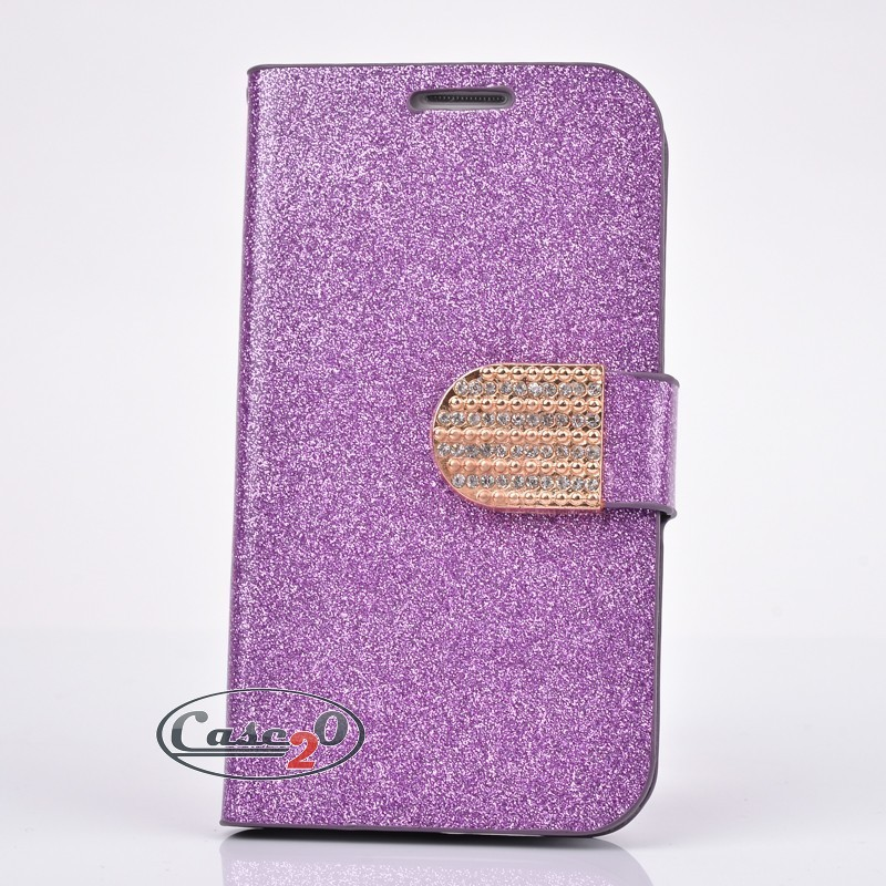 Case for Samsung Galaxy S3 Snowflake Bling Flip Case