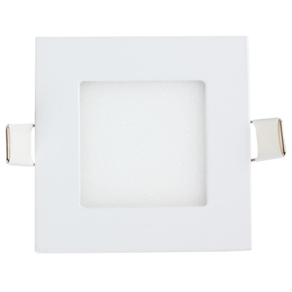 20 PCS NEW Energy Saving LED Panel Light 3W Ultra Thin Square Warm White / White Light Energy Saving Ceiling Lamp