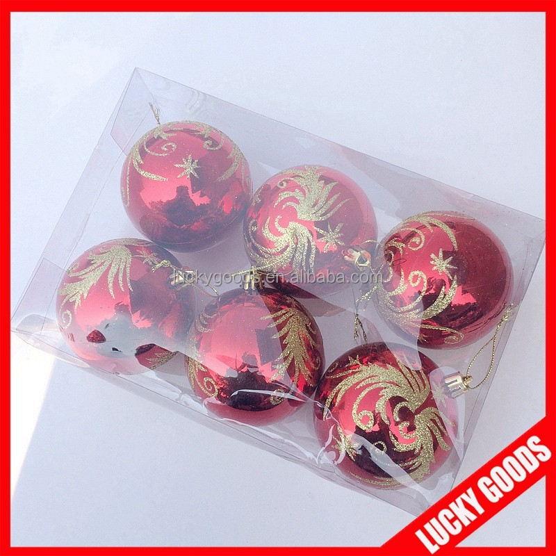 wholesale inflatable christmas ornaments ball for christmas tree ornament