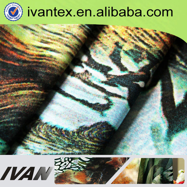 2015 Design Knitting Animal Print Chiffon Digital Printed Fabric