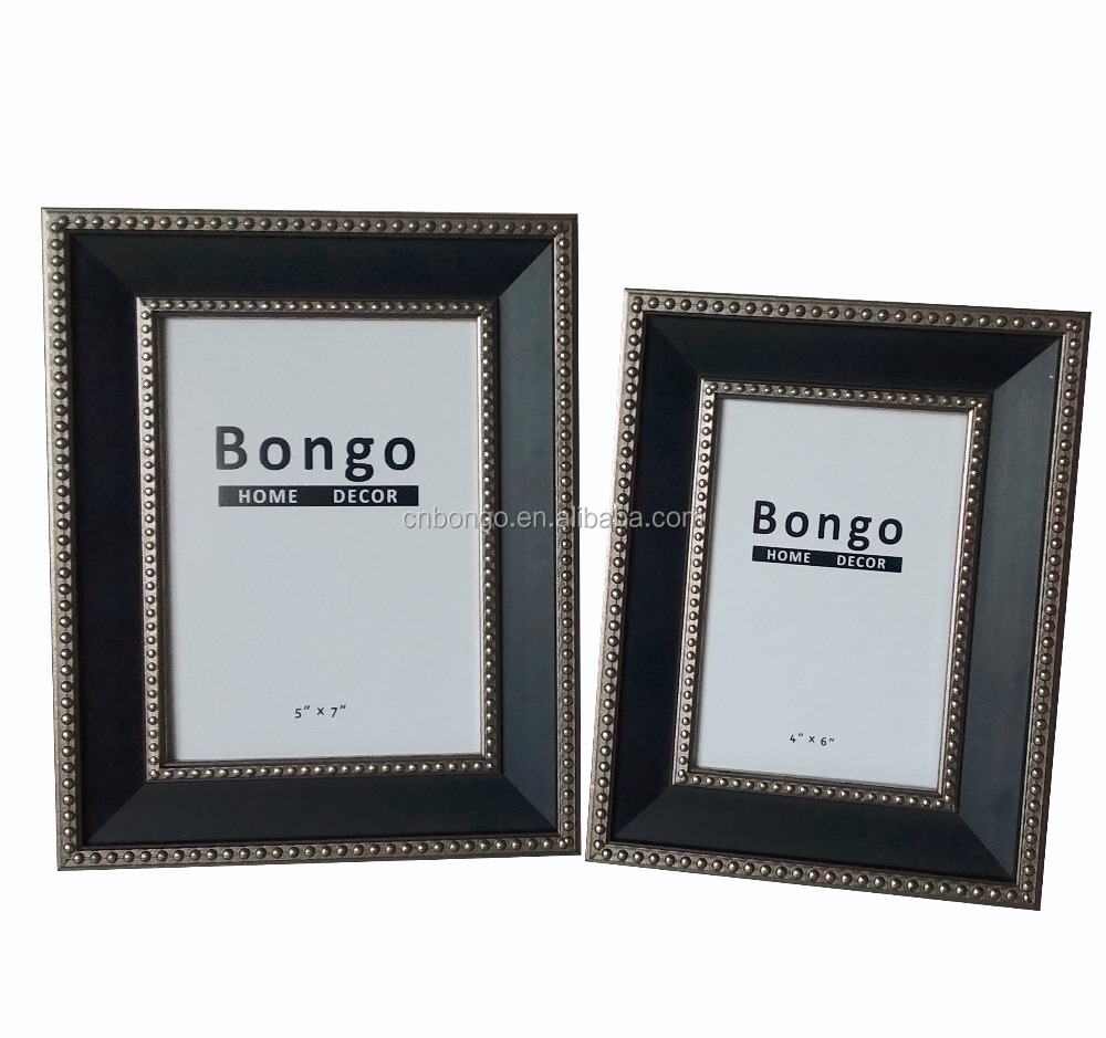 fake wood texture plastic photo picture frame