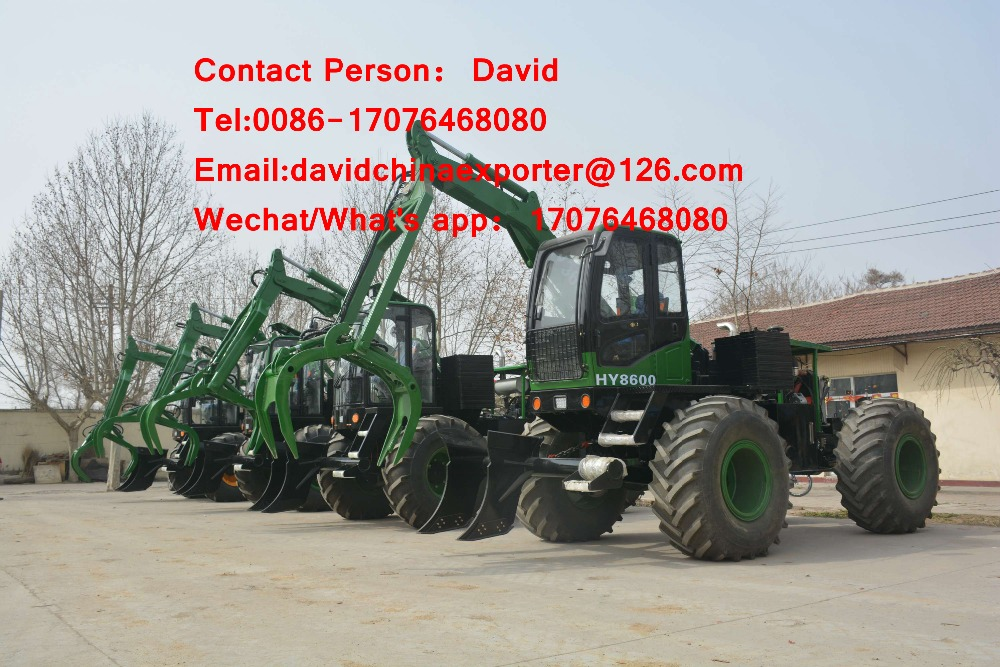 Hot sales! Hy-8600 wheel sugarcane grap loader with joint venture engine
