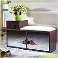 Space saving luxury shoe rack bench with mirror from China guangdong