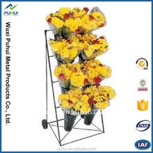 Mobile flower display cart