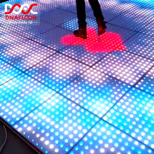 Customizable 8*8 pixels interactive video rgb stage led panel color digital round dance floor