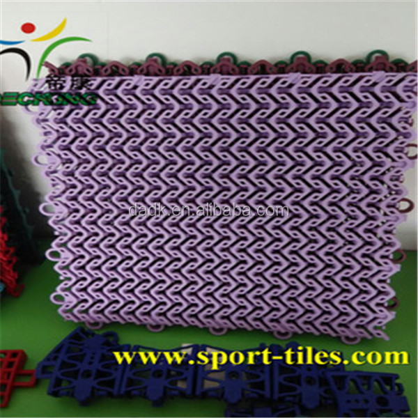 Hot Sale modular tile outdoor PP interlocking plastic basketball flooring