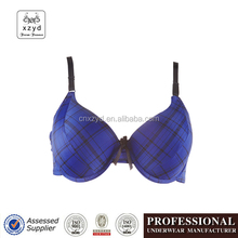 2017 OEM New Design of Stylish Plaid Sexy Fitness Bra Pictures