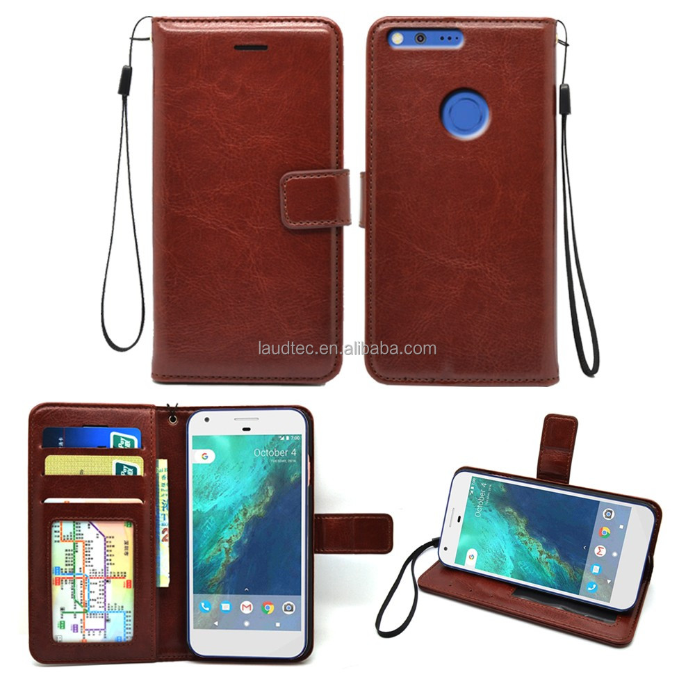 classic style leather case ,mobile phone wallet luxury case with card slots for Google Pixel XL leather case