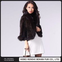 Women'S Long Knitted Fur Bolero Shawl Stole Cloak Cape Coat
