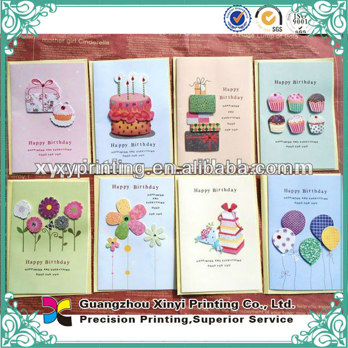 Custom New Style Paper Quilling Happy Birthday Cards