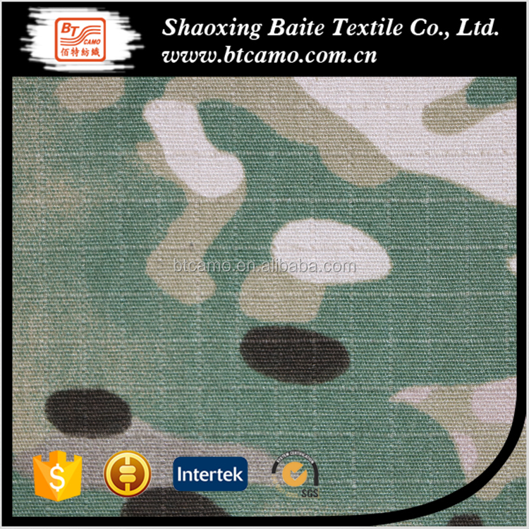 CVC 60/40 Ripstop Military Multicam Camouflage Fabric