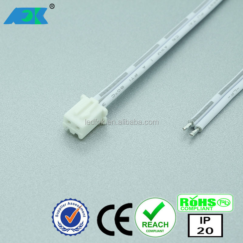 24V LED cable flat mini plug 2 pin male connector (JST connector )
