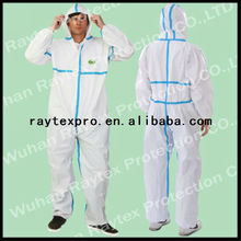 CATIII Type4/5/6 Microporosa Coverall Químico (30223)