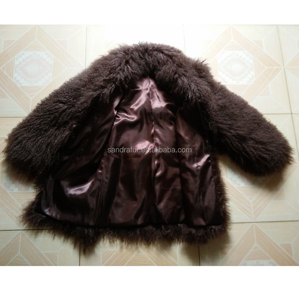 SJ192-01 Turn Down Collar Sheep Fur Coats Women Import Clothing from China