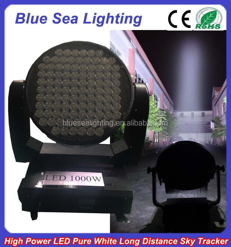 2014 bright outdoor rotation marine police 1000w sky led search light