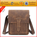 2017 new arrival high quality vintage leather messenger bag for man