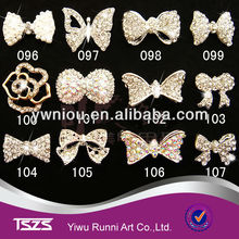 alloy pearl rhinestones nail decoration metal 3D nail art decoration