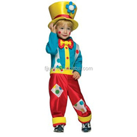 Fancy kids carnival clown circus costumes