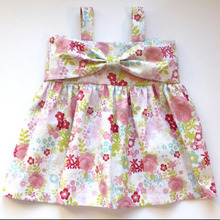 2017 Baby White Color Dress Cotton Summer Dress Designs Teenage Girls Kids Clothes Girl Dress With Bow