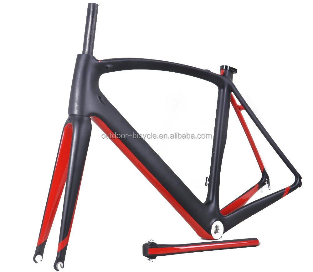 New matt road bicycle frame/Cadre & full carbon frameset include headset&aero road frames with internal cable