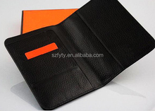 real leather anti scan rfid shield wallet