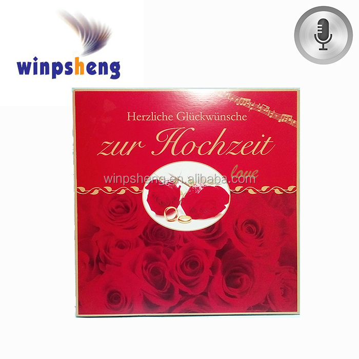 greeting card sound module /lovers gift greeting card