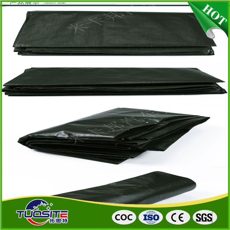 black heavey duty waterproof truck trailer pvc tarpaulin custom pe tarps