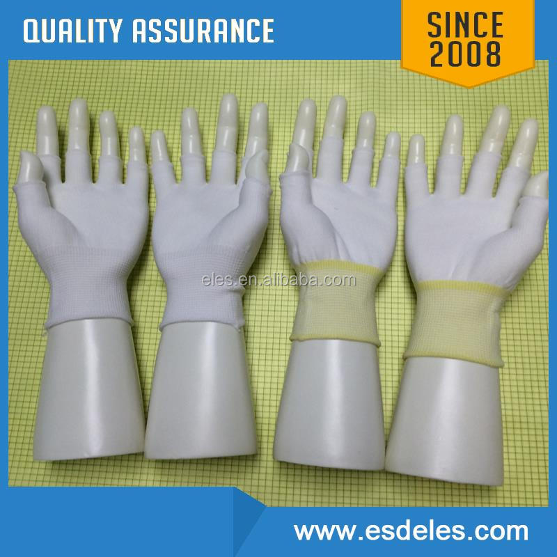 wholesale antistatic nylon carbon fiber pu palm coating ESD work glove