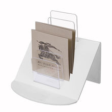 Clear Acrylic Tiered Information Holder File Organizer Letters Storage Case Display Stand Rack