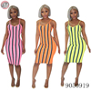 9050919 queenmoen wholesale women summer stripe casual suspender dress