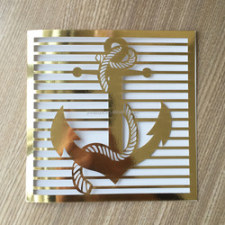 Luxury Wedding Invitations Cards 2017 Ocean Anchor Style Invitation for Wedding Convites Casamento Wedding Decorations