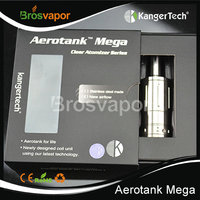 Hottest electronic cigarette inter changeable phrex glass Kanger Aero Tank Mega cartomizer with bottom dual coil