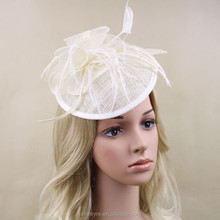 Wholesale Hairband Sinamay Base/Fascinator Base Hat For chuch/Wedding/Party
