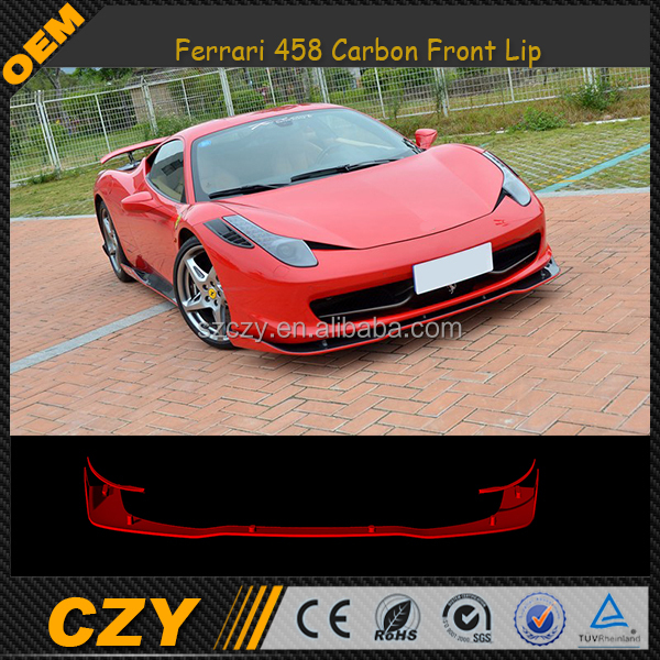 Custom Carbon Car Front Lip Spoiler for Ferrari 458