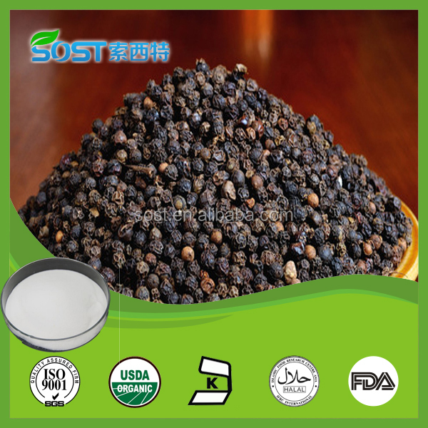 100% Pure Piperine Extract 95%, 98% / Natural Black Pepper Extract