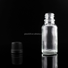clear 100ml beverage food grade glass bottles round with tamper proof caps